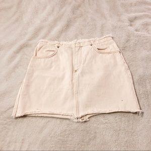 Urban Outfitters Cream Mini Skirt